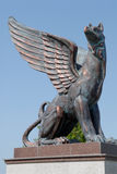 Griffin Sculpture Stockbild