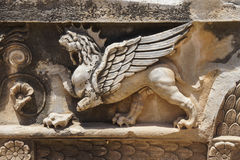 Griffin sculptures, winged mythical creature Stock Photo
