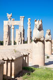 Griffin statue at entrance gate of Persepolis Stock Images
