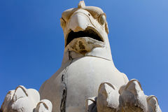 Statue in Persepolis. Griffin statue in an ancient city of Persepolis Royalty Free Stock Photo