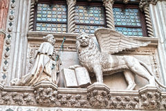 Griffin Statue at the Worlds most beautiful square Piazza San Marco Stock Images