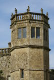 Griffin statues, tower of Lacock Abbey, England Stock Photos