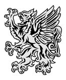 Griffin on white background. Heraldry style griffin illustration isolated on white Stock Photography