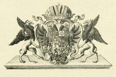 Griffioenen op oude document achtergrond Royalty-vrije Stock Foto