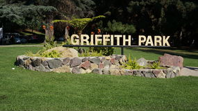 Griffith πάρκο - Σάντα Μόνικα στοκ εικόνες