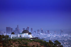 Обсерватория Griffith в Los Angeles CA Стоковое фото RF