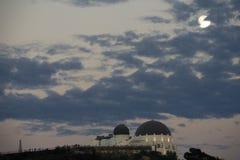 Griffith observatorium på skymning Royaltyfria Foton