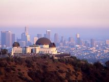 Griffith Observatory au crépuscule Images stock