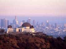 Griffith Observatory au crépuscule Images stock