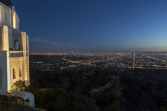 Griffith Observatory Dusk Los Angeles Stock Photos