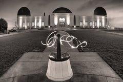 Griffith Observatory em preto e branco Fotos de Stock Royalty Free