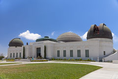 Griffith observatory with green grass field Stock Photography
