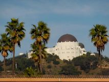 The Griffith Observatory on the Hill stock images