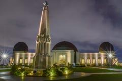 Griffith Observatory - lange Belichtung lizenzfreie stockfotos