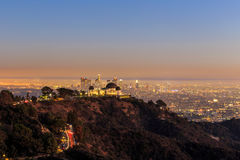 The Griffith Observatory and Los Angeles city Royalty Free Stock Photography