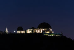 Griffith observatory in Los Angeles during night Stock Photo