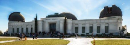 Griffith Observatory Monument av astronomer i Los Angeles Cali Fotografering för Bildbyråer