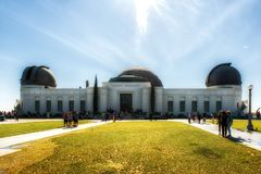 Griffith Observatory Monument av astronomer i Los Angeles Cali Royaltyfria Foton