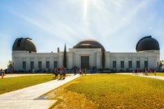 Griffith Observatory Monument av astronomer i Los Angeles Cali Arkivfoton