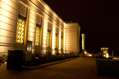 Griffith Observatory at night. Side view of the Griffith Observatory building at night Royalty Free Stock Photography