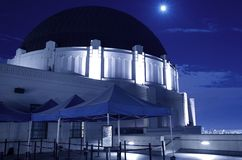 Griffith Observatory at Night Royalty Free Stock Photos