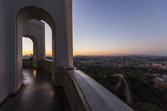 Griffith Observatory Sunrise Cityscape Stock Image
