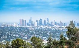 Griffith Park и городское Лос-Анджелес Стоковые Изображения RF