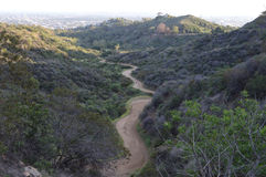 Griffith Park Canyon Trial. Winding Griffith Park Canyon Trial Los Angeles Stock Photography