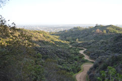 Griffith Park Canyon Trial Royalty Free Stock Photos