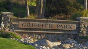 Griffith Park en Los Ángeles almacen de metraje de vídeo
