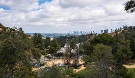 Griffith Park et Los Angeles du centre Attractions touristiques de la Californie Image libre de droits