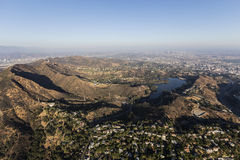 Griffith Park and Hollywood Hills Aerial Royalty Free Stock Photo