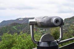 Griffith Park, Los Angeles - telescopio monocular imagen de archivo