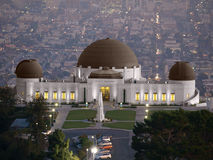Griffith Park Observatory. Famous Los Angeles city owned landmark Stock Photography