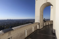 Griffith Park Observatory Arched Walkway imagem de stock