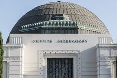 Griffith Park Observatory Dome Royalty Free Stock Photos