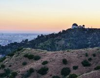 Griffith Park Observatory at Dusk royalty free stock photography