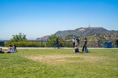 Griffith Park Observatory en Los ?ngeles fotografía de archivo libre de regalías