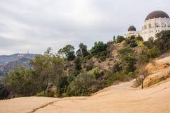 Griffith Park Observatory en symbol av Los Angeles Royaltyfri Foto