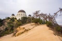 Griffith Park Observatory en symbol av Los Angeles Arkivfoton