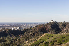 Griffith Park Observatory, Hollywood and Century City Stock Photography