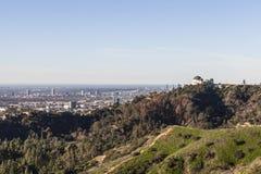 Griffith Park Observatory, Hollywood y ciudad del siglo Fotografía de archivo