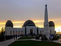 Griffith Park Observatory i Los Angeles royaltyfria foton