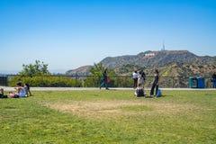Griffith Park Observatory i Los Angeles royaltyfri fotografi