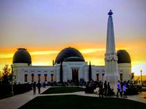 Griffith Park Observatory at Sunset royalty free stock images