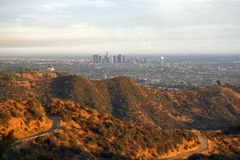 Griffith-Park und Los Angeles Stockfotos