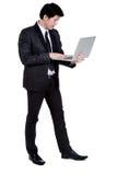 Griffnotizbuchklage des Geschäftsmannes intelligente Lizenzfreie Stockfotos