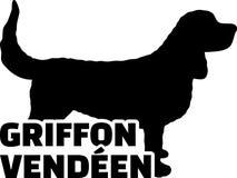 Griffon vendeen silhouet echt woord Stock Foto's