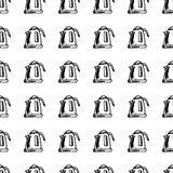 Griffonnage électrique de bouilloire de modèle sans couture tiré par la main Icône de style de croquis Élément de décoration D'is illustration libre de droits