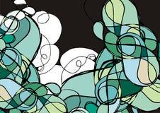 Griffonnage abstrait coloré illustration stock